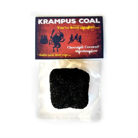 Krampus Coal Bavarian Christmas Demon Sack Stick Drown Children Holiday Tradition Gag Novelty Gift Stocking Stuffer Chocolate Covered Marshmallow ()