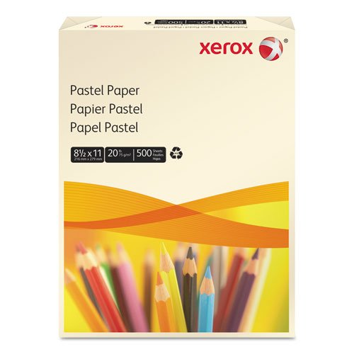 Xerox 3R11056 Multipurpose Pastel Colored Paper, 20-lb, Letter, Ivory, 500 Sheets/ream