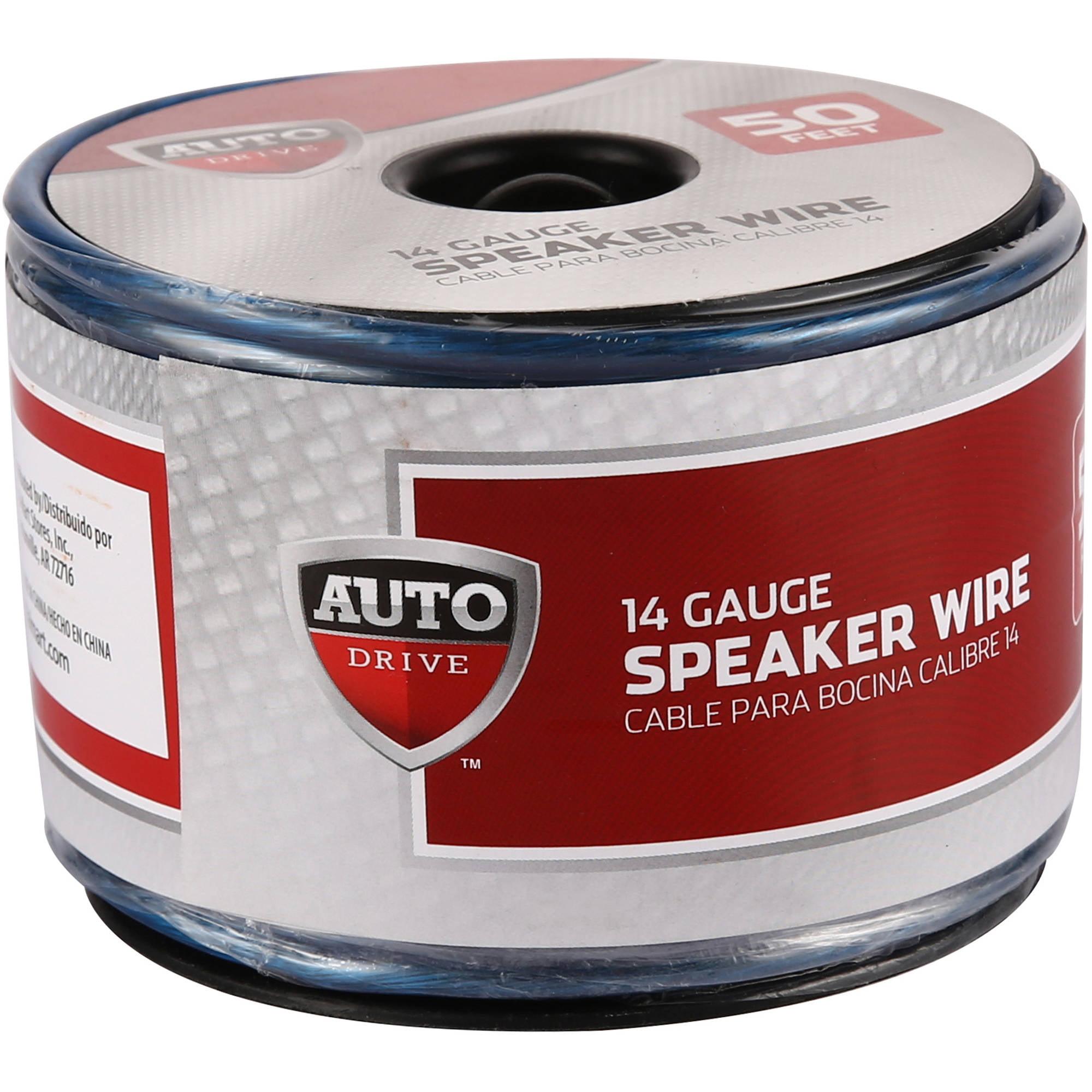 Auto Drive Car Stereo Speaker Wire, 14ga, 50', 15.2m