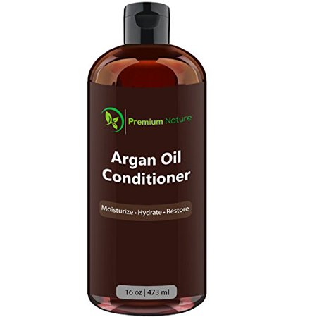 Argan Oil Hair Conditioner 16 oz, Repairs Damaged Hair, Moisturizes, Prevents Split Ends, Relieves Dandruff & Itchy Scalp, By Premium