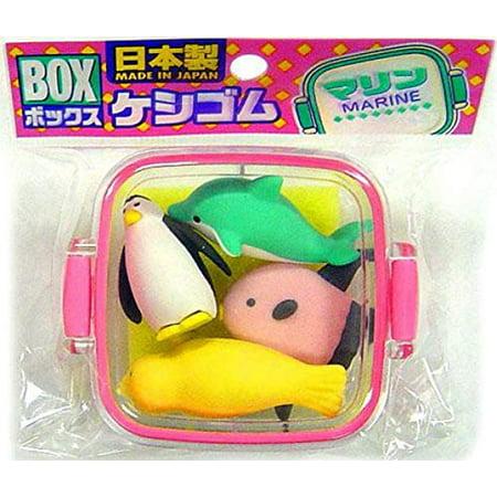 Iwako - Box of Erasers - Marine Animal Theme - image 1 of 1