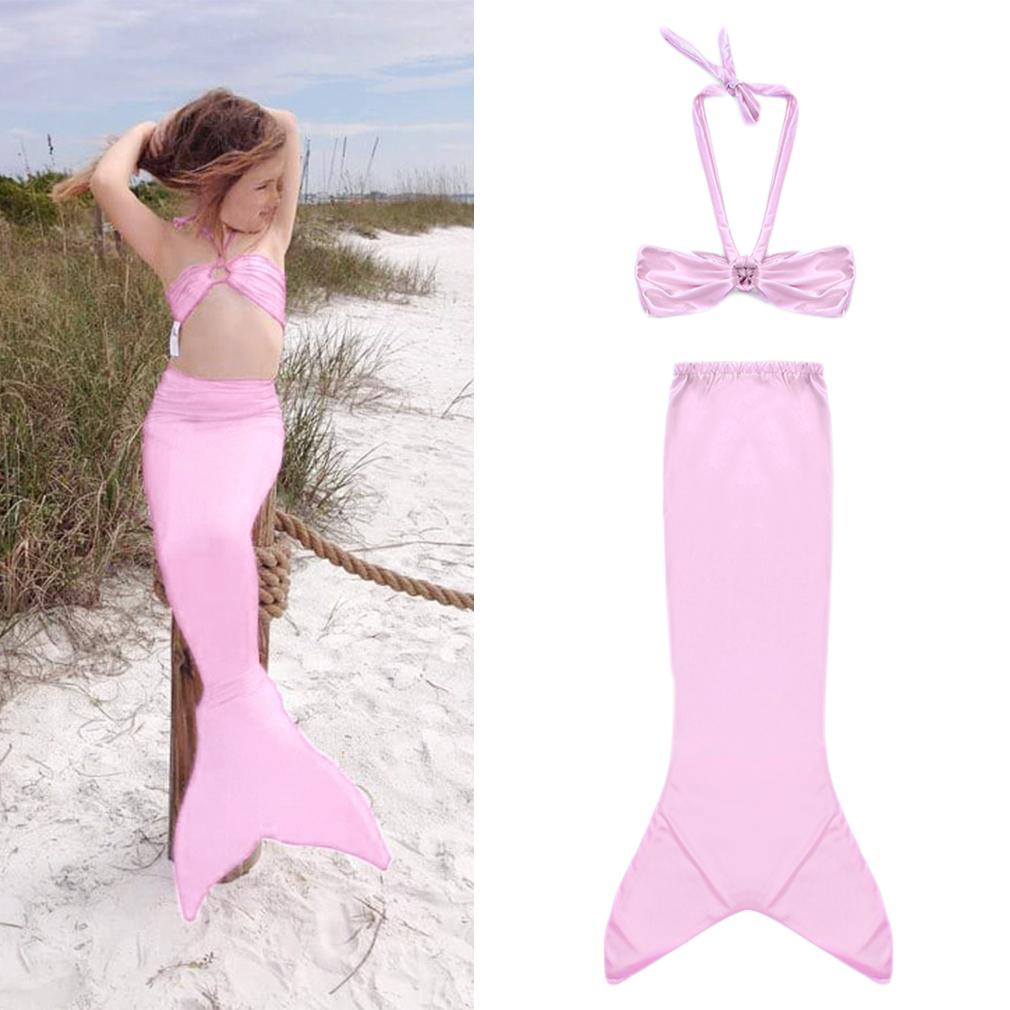 Ariel Little Mermaid Tail Dress Children Kids Girls Kid Mermaid Tails Costume Pink 90cm Pink 90cm