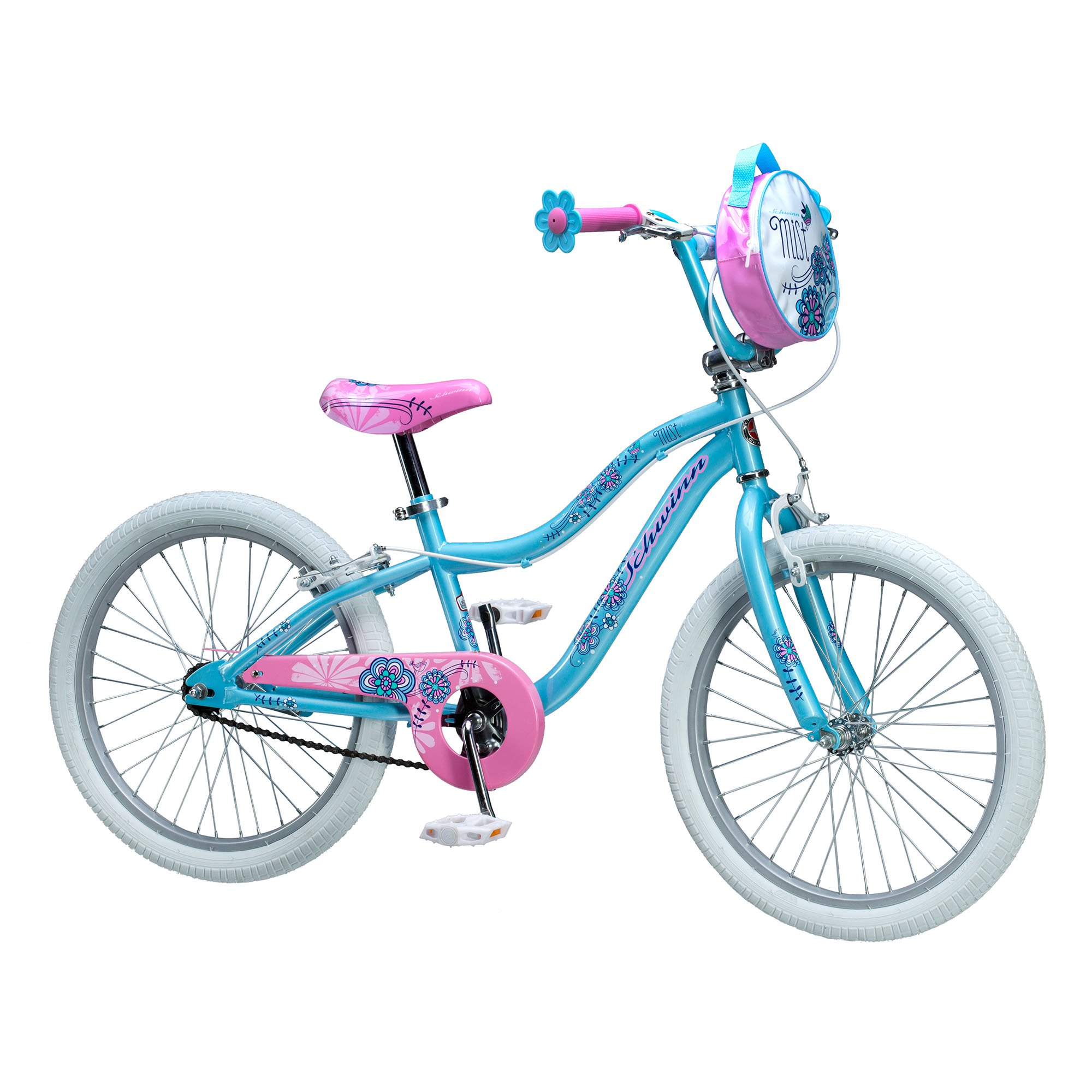"Schwinn SmartStart Mist 20"" Steel Frame Hand Brake Kids Sidewalk Bicycle, Blue by Schwinn"