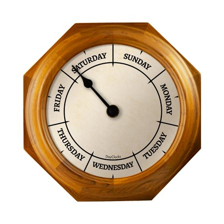 DayClocks™ Classic Oak Day-of-the-Week Wall Clock