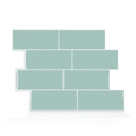 Smart Tiles 11.56 in x 8.38 in Peel and Stick Self-Adhesive Mosaic Backsplash Wall Tile - Metro Mia (4-Pack)