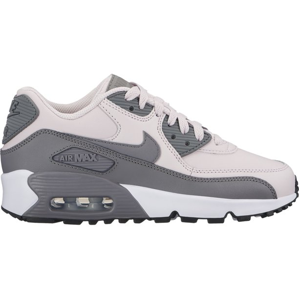 nike air max 90 ltr girl's shoe anthracite/ metallic silver-hot punch 6y