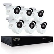 Night Owl's 8 Channel Smart Detection Security System with 6 x 1080p Wired Infrared Cameras and 1 TB Pre-Installed Hard Drive