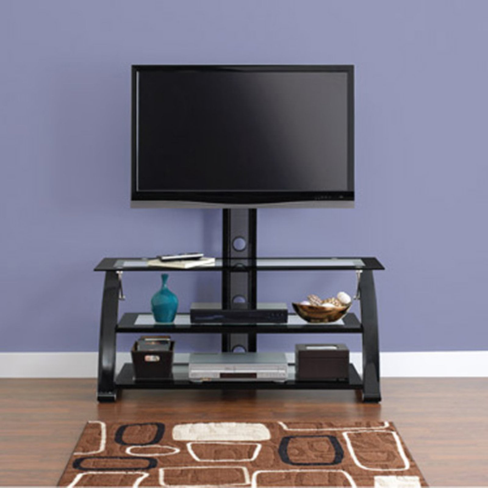 "Spar Glass and Metal TV Stand for TVs up to 65"" - Walmart.com"