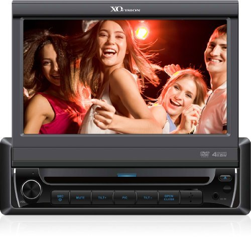 "XO Vision 7"" In-Dash Touchscreen DVD Receiver w/ Bluetooth and USB and AV Inputs, X341BT"