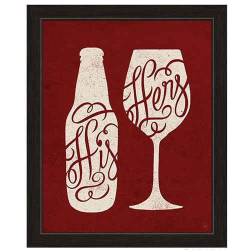 Click Wall Artwork His And Hers Framed Graphic Art in Red by Click Wall Art
