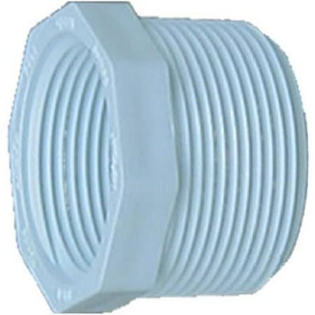 Fip Threads - Genova Products 34358 PVC Pipe Fittings, Threaded Bushing, 1/2-In. MIP x 3/8-In. FIP - Quantity 1