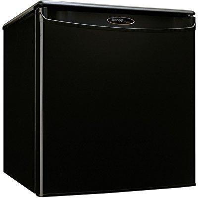 Danby premium mini fridge appliances compact small apartment size  refrigerator in black