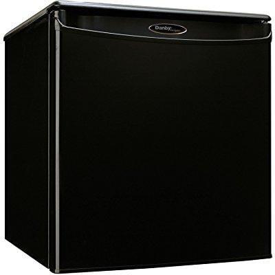 Danby premium mini fridge appliances compact small apartment size  refrigerator in black