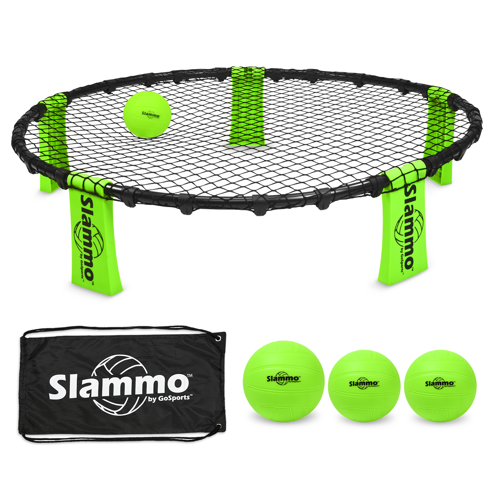 GoSports Slammo Game Set, Includes 3 Balls, Carrying Case and Slammo Rules