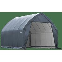 ShelterLogic Garage-in-a-Box, 13 x 20 x 12 ft, Gray, Peak Style, Carport Car Shelter Storage Solution