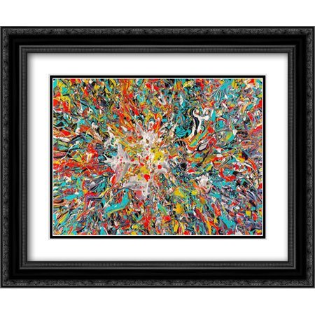 Energy Generation 5 2x Matted 24x20 Black Ornate Framed Art Print by Doyeon,