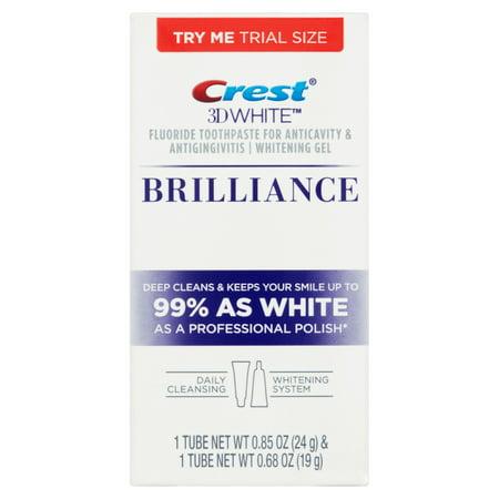 blanc 3D Brilliance et Toothpaste Fluoride Gel de blanchiment
