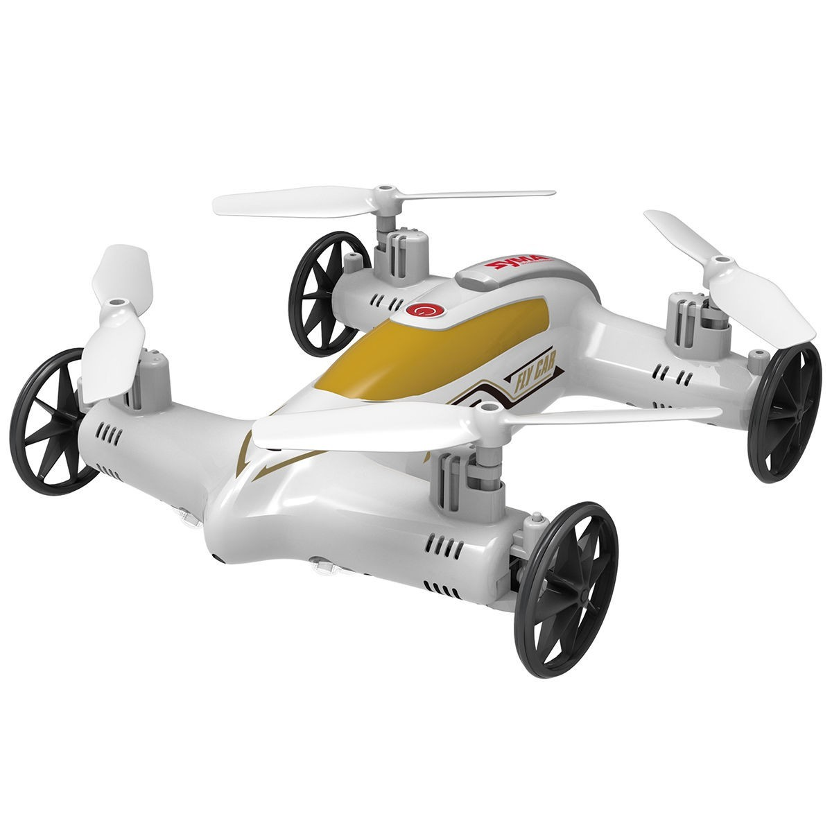 Syma X9S 2.4G 4CH 6-Axis RC Flying Car Remote Control Quadcopter - White