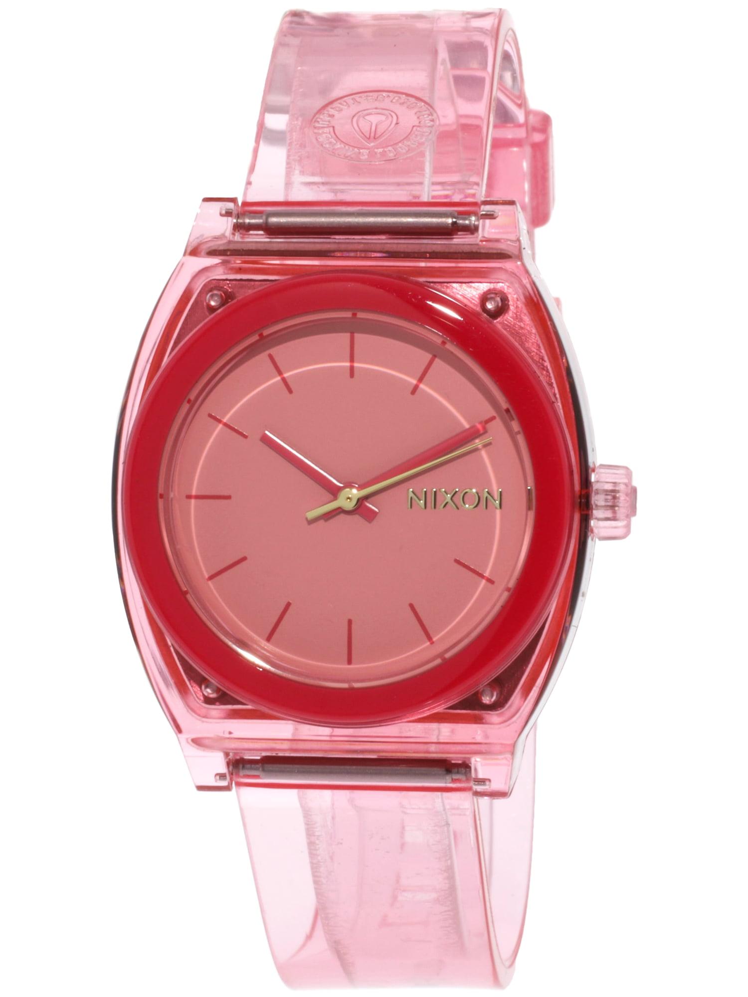 Nixon A1215685 Pink Resin Japanese Quartz Fashion Watch