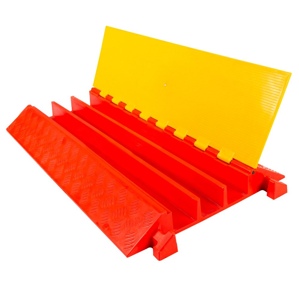 3-Channel Heavy Duty Modular Safety Cable Ramp Protector