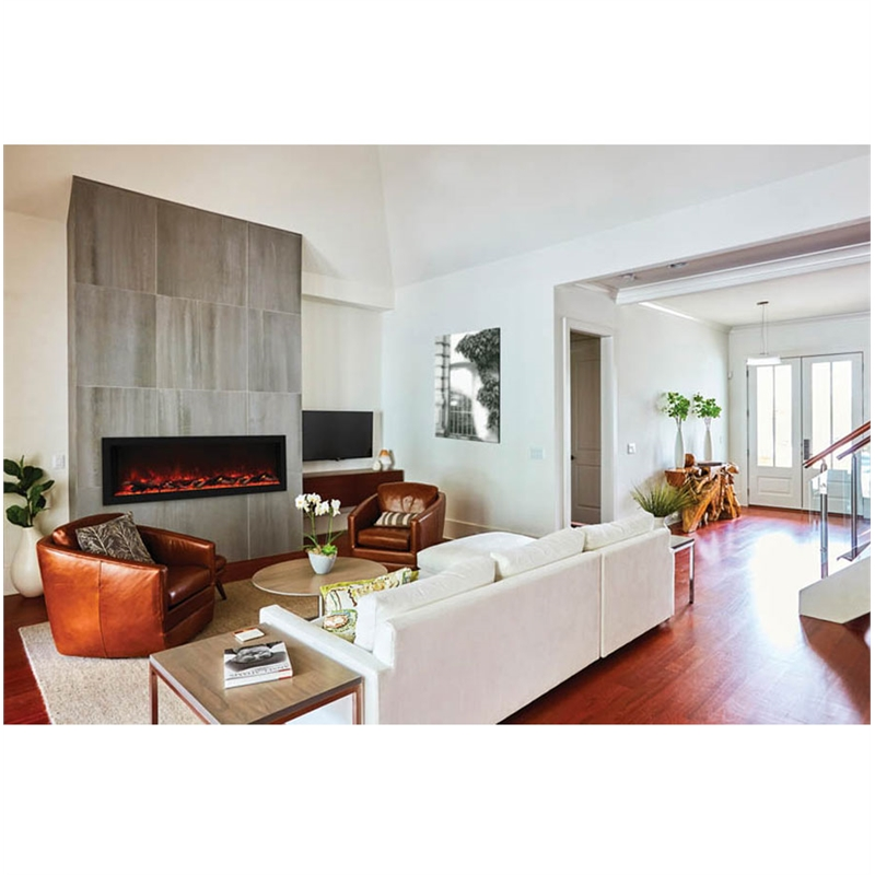 """Maklaine 55"""" Extra Tall Indoor / Outdoor Electric Fireplace"""