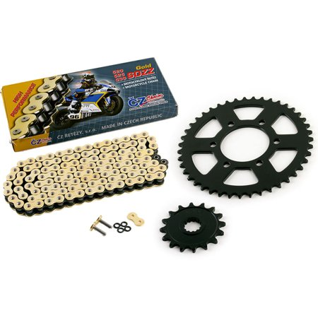 07 Kawasaki Ninja 600 ZX-6R ZX600 CZ SDZZ Gold X Ring Chain Sprocket 16/43