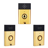 Wireless Voice Intercom Doorbell 2-way Talk Monitor with 1*Outdoor Unit Button 2* Indoor Unit Receiver Smart Home Door Bell,Gold