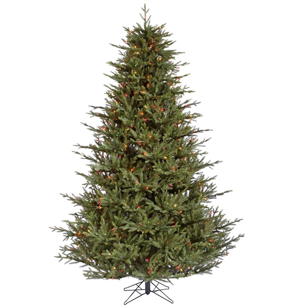 "Vickerman 215722 - 8.5' x 70"" Itasca Frasier Fir Tree with 1,000 Multi Color LED C7 Lights Christmas Tree (A110382LED)"