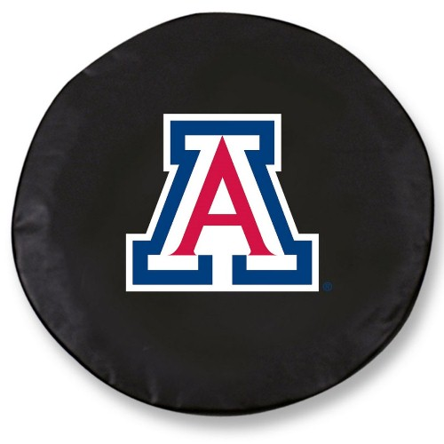 NCAA Tire Cover by Holland Bar Stool - Arizona Wildcats, Black - 29 L x 8 D