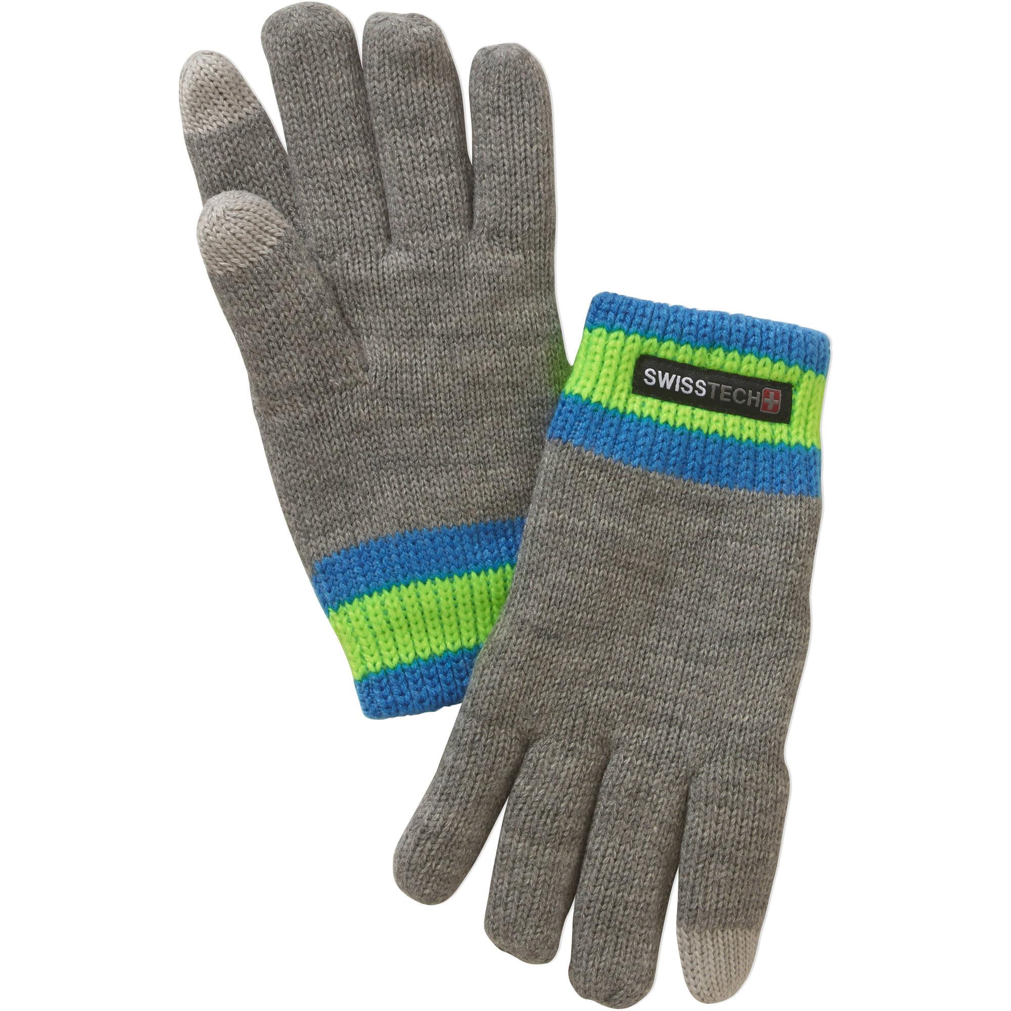 Swiss Tech Boys Knit Glove With Texting