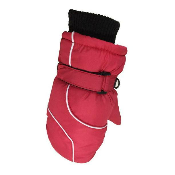 6 Pairs Kids Ski Gloves Windproof Warm Snow Mitten for Winter Outdoor Activities