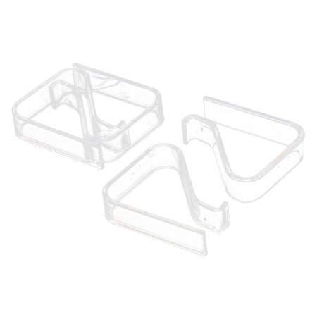 Unique Bargains Table Plastic Tablecloth Covver Runner Clip Clamp Holder 2-3.5cm Thickness 4 Pcs - Tablecloth Clips