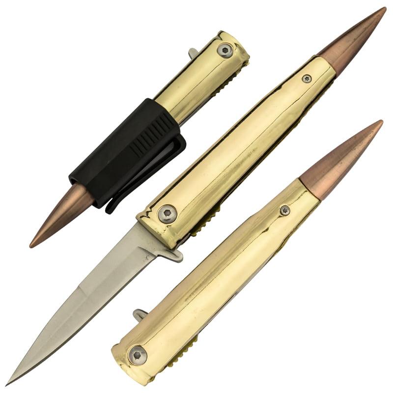 .50 Cal Trigger Action Pocket Knife with Removable Pocket Clip