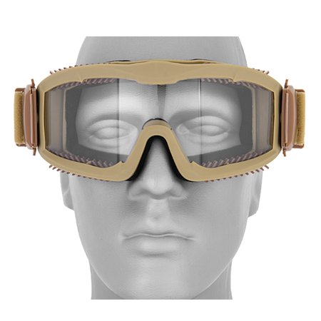 Lancer Tactical Airsoft Safety Goggles - Vented - Tan