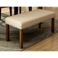 Berenicia Transitional Fabric Padded Bench, Natural Tone