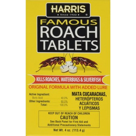 Harris Famous Roach Tablets Original Formula With Lure  4 Oz  Pack Of 2
