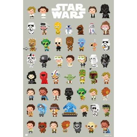 Star Wars - Movie Poster / Print (8-Bit Character Montage) (Size: 24