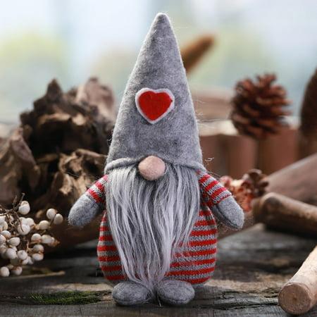 Cheap Gifts For Christmas (3Colors Handmade Gnome Santa Christmas Figurines Ornament Holiday Decor)