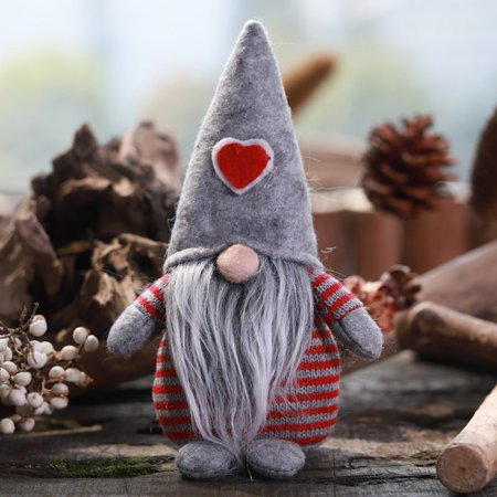 3Colors Handmade Gnome Santa Christmas Figurines Ornament Holiday Decor Gift ()