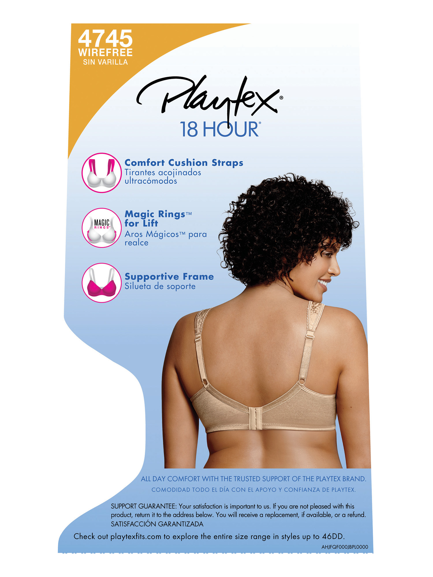 18 Hour Ultimate Lift and Support Wireless Bra, Style 4745 - Walmart.com