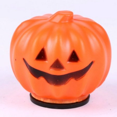 Plastic Halloween Pumpkin Orange LED Jack-O-Lantern Light for Festival Home Prop Decoration - Plastic Body Parts For Halloween