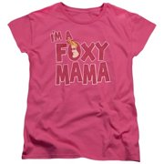 Trevco Johnny Bravo-Foxy Mama - Short Sleeve Womens Tee - Hot Pink, Small