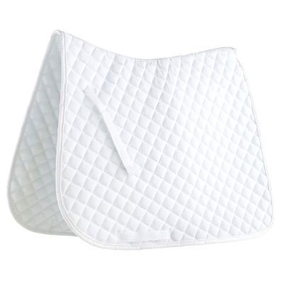 Roma Quilted Dressage Saddle Pad - White/white Piping, (Union Dressage Saddle Pads)