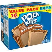 Kellogg's Pop-Tarts, Frosted Brown Sugar Cinnamon Flavored, 28.2 oz 16 Ct