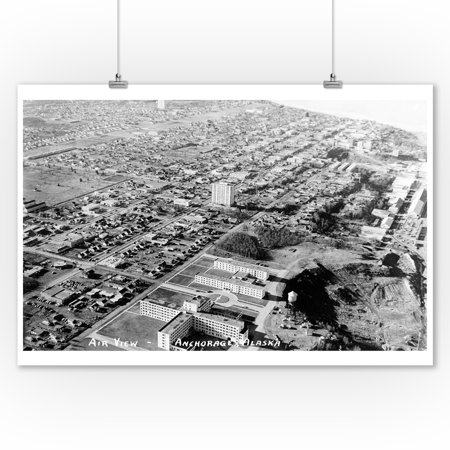 Anchorage, Alaska - Aerial View of City Photograph (9x12 Art Print, Wall Decor Travel Poster)](Party City Anchorage)