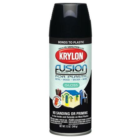 Krylon® Fusion for Plastic® Satin Black Spray Paint 12 oz Aerosol Can