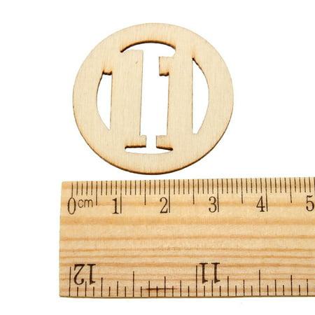 NO.1-NO.31 round shape numbers wooden veneer Wood chipboard Scrapbooking Embellishment DIY Craft - image 2 of 3