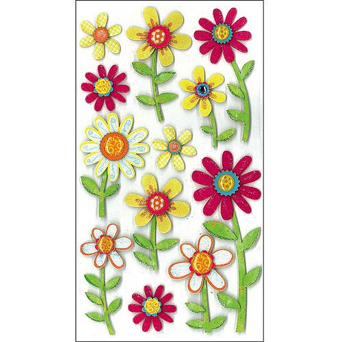 EK Success Jolee's Boutique Large Daisy Dimensional Sticker Sheet, #50-50289