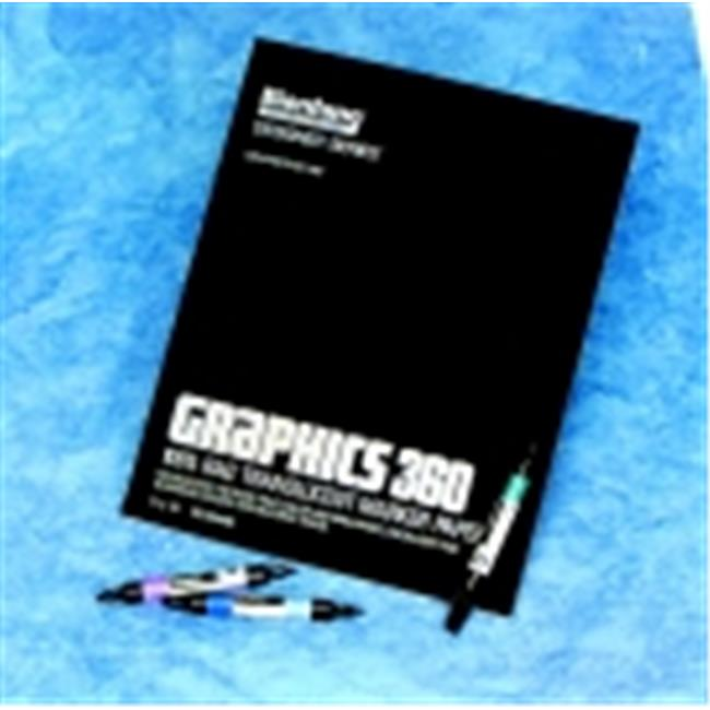 Bienfang Graphic Cloth Binding Felt Marker Pad - 11 x 14 inch - 50 Sheets