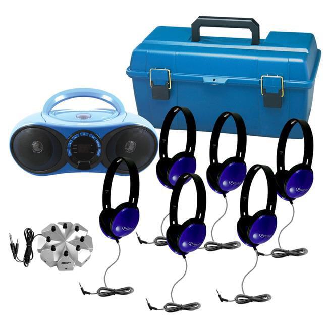 HamiltonElectronics LCMVP1 HamiltonBuhl Audio MVP Bluetooth CD & FM Listening Center 6 Station, Blue & Gray